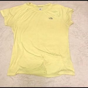 The North Face Women's Yellow Tee - Large